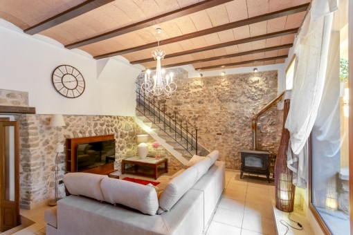 Lovingly restored town house in Selva with pool and wonderful views