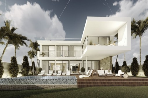 A fantastic 4 bedroom villa project with sea views in Cala Vinyes/Sol de Mallorca