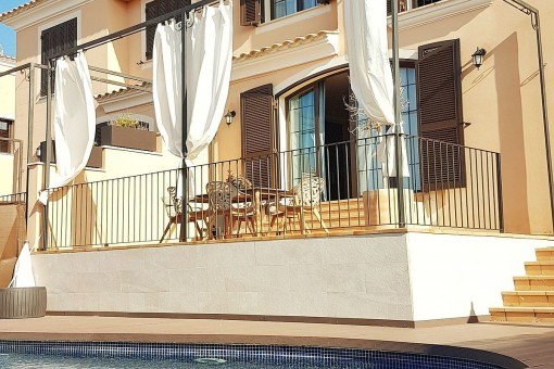 Sunny terrace with pool
