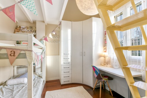Lovely loft bed in the children's room