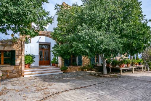 Access to the charming finca