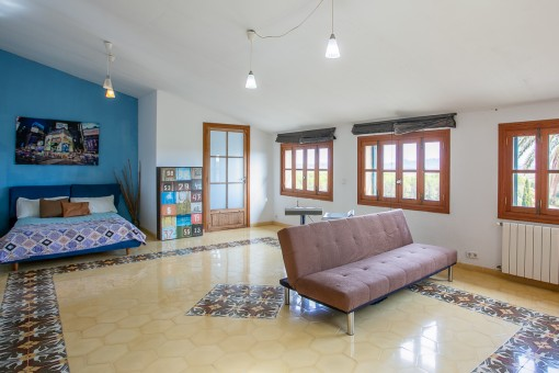 Large bedroom on the upper floor