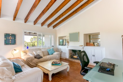 Cozy living area on the upper floor