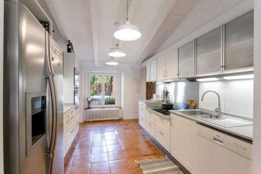 Separate, modern kitchen