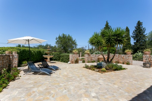 Beautiful, tranquil terrace