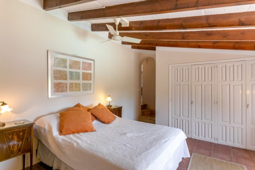 One of in total 10 bedrooms