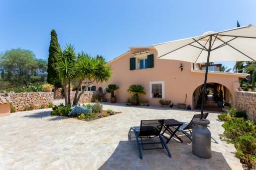 Very well-tended sun terrace