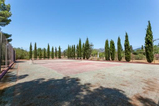 Own tennis court