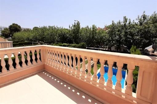 Sunny upper terrace
