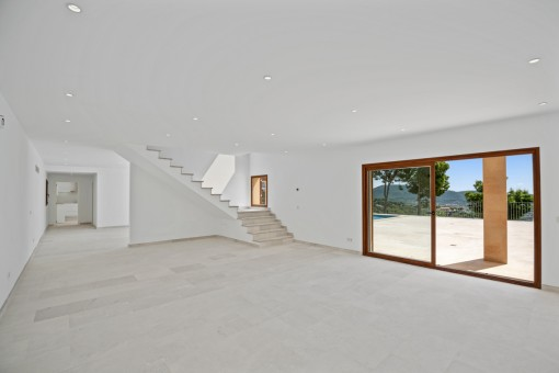 Large living area on the ground floor
