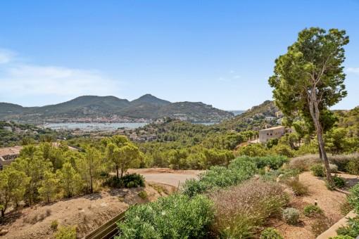 Dreamlike views over the bay of Port Andratx