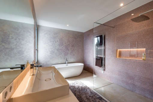 Stylish master bathroom