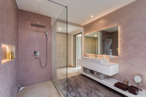 Modern walk-in shower