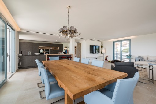 Open living- and dining area