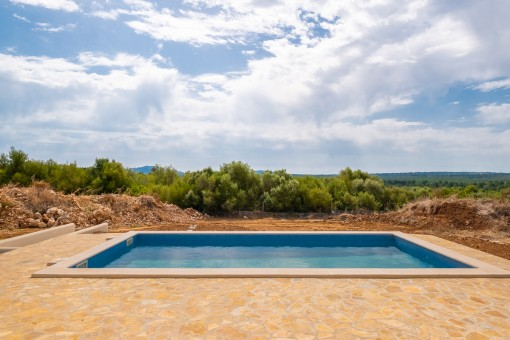 Pool area with sweeping views