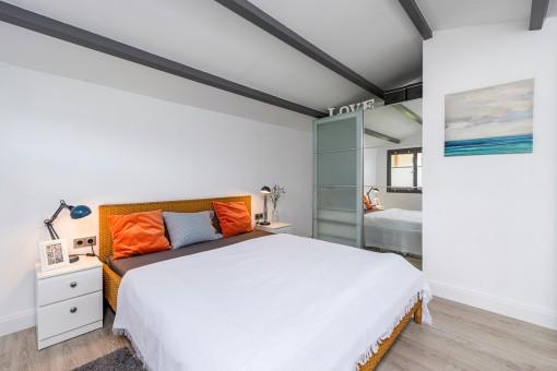 Modern bedroom area