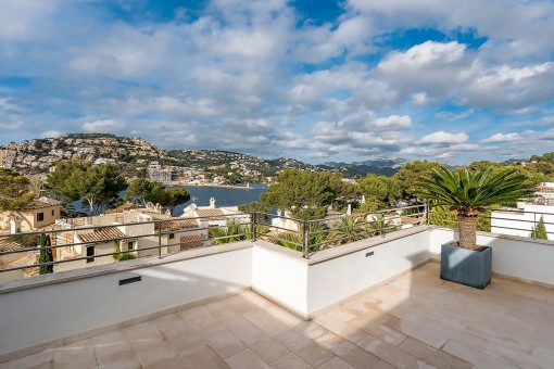 Large terrace with a view