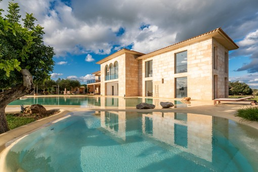 Unique modern country house with pool and fabulous views in Ses Salines