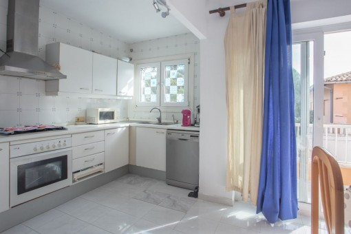 Small kitchen of the apartment