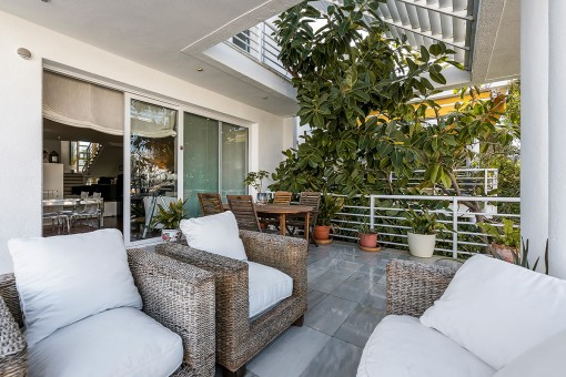 Beautiful terrace with lounge area