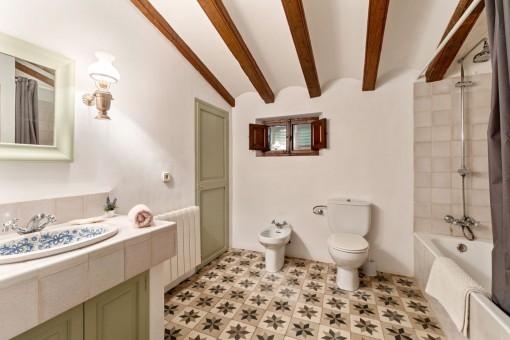 Charming bathroom of the finca