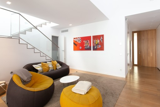 Spacious entrance and living area
