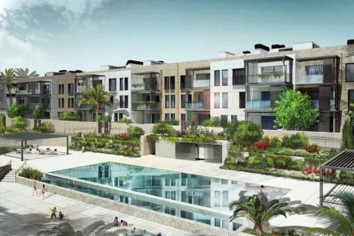 Newbuilt apartment complexes in Son Vida