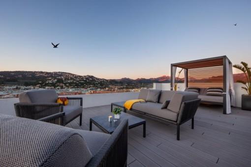Stunning roof terrace