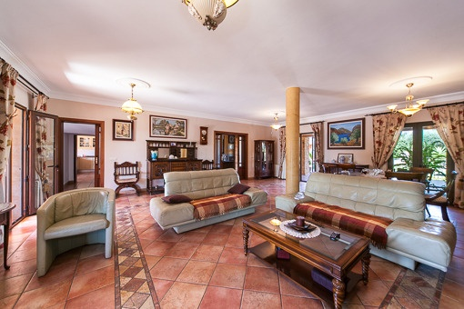 Spacious and elegant living area