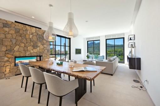 Beautifully designed dining area