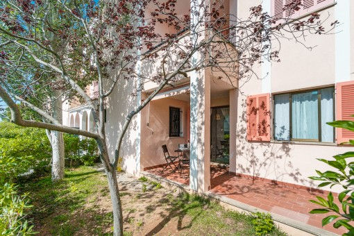 Well-maintained ground-floor apartment with a private garden-share in a quiet residential area in Port de Pollensa