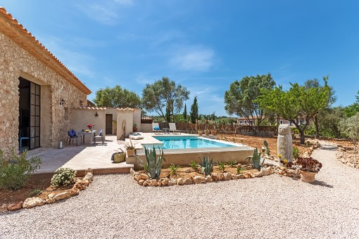 Sunny terrace and private pool