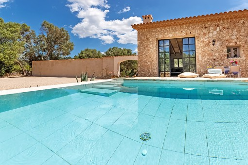 Pool of the guest house
