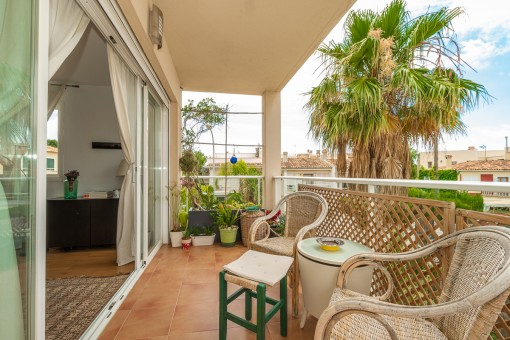 Covered 5 sqm terrace
