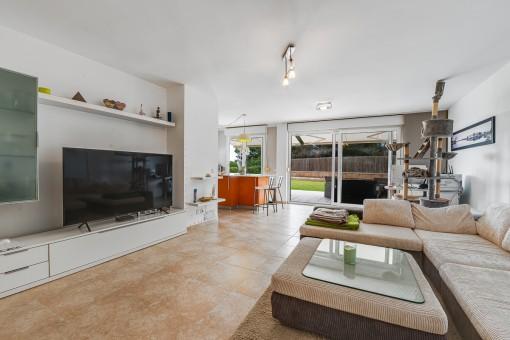 Living area with garden access
