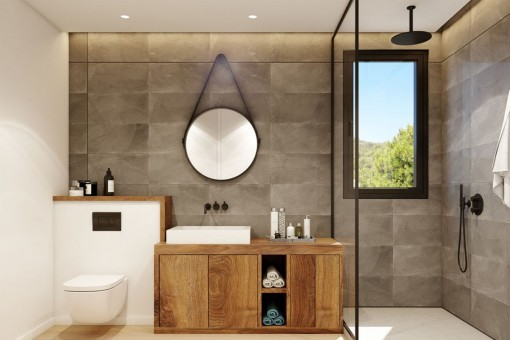 Bathroom flooded with natural light
