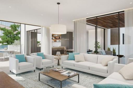 Luxurious newly-built ground floor apartment in Son Armadams, Palma