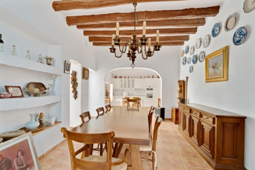 Authentic dining area
