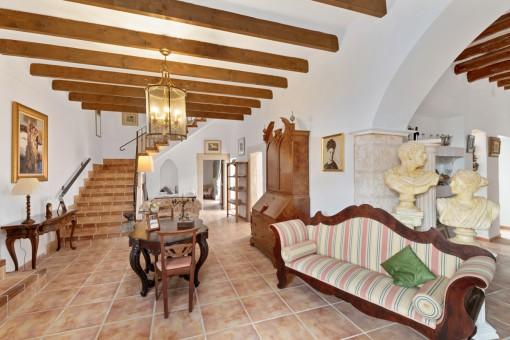 Generous living area on the ground floor