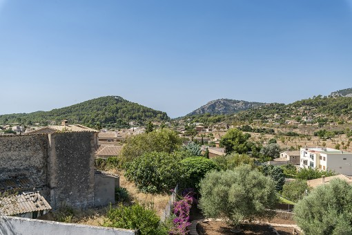 View to the town