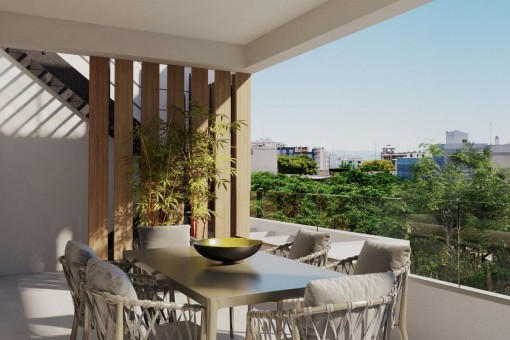Fantastic apartment with terrace and in a newly-built complex in Son Armadams