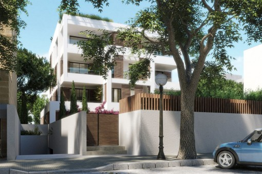 Fantastic ground-floor apartment with a large exterior area in a newly-built complex in Son Armadams
