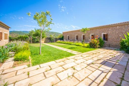 Idyllic garden of the finca