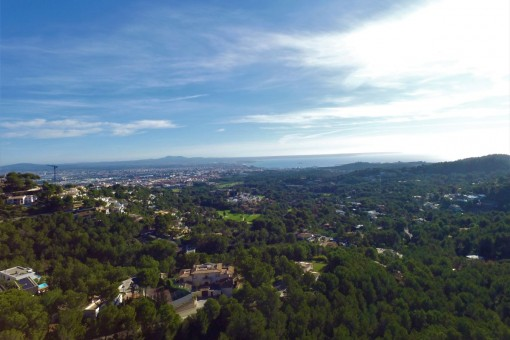 View over the whole bay of Palma
