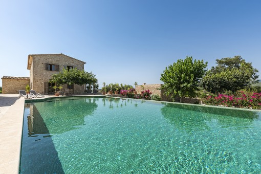 Large swimming pool of the finca