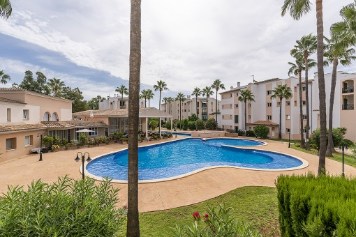 View to the communal pool