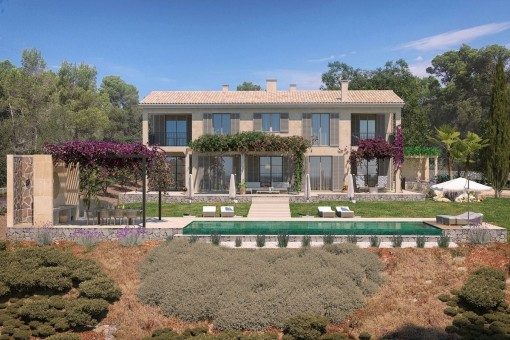 Exclusive newly built finca with spectacular panoramic views in a top location near Santanyí