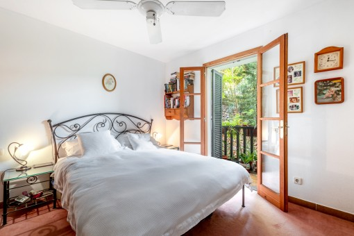 Bedroom with sunny balcony
