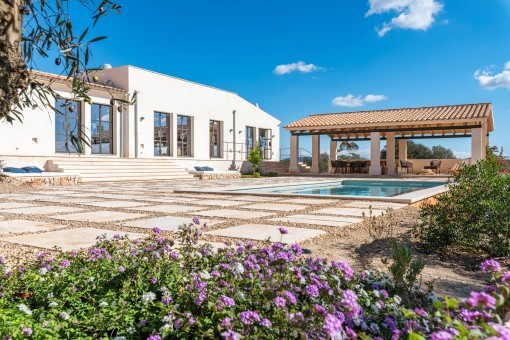 Exclusive country house with pool and sweeping views near Ses Salines