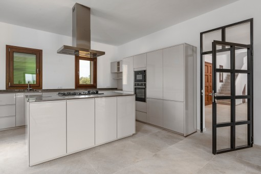 High-quality kitchen with cooking island